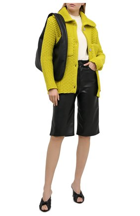 Женский шерстяной кардиган BOTTEGA VENETA светло-зеленого цвета, арт. 652524/V0I20 | Фото 2