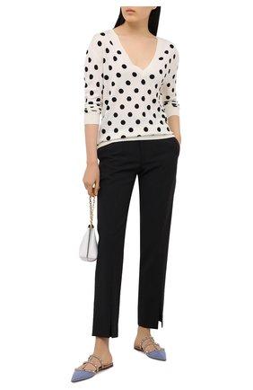 Женский шерстяной пуловер VALENTINO черно-белого цвета, арт. VB3KC20Z679 | Фото 2