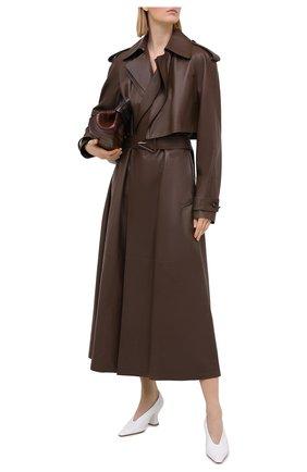 Женские кожаные туфли almond BOTTEGA VENETA белого цвета, арт. 651354/VBP10 | Фото 2
