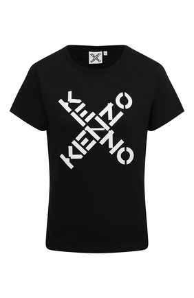 Женская хлопковая футболка kenzo sport KENZO черного цвета, арт. FB52TS8504SJ | Фото 1 (Стили: Кэжуэл; Принт: С принтом; Длина (для топов): Стандартные; Рукава: Короткие; Материал внешний: Хлопок; Женское Кросс-КТ: Футболка-одежда)