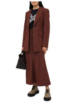 Женская хлопковая футболка kenzo sport KENZO черного цвета, арт. FB52TS8504SJ | Фото 2 (Стили: Кэжуэл; Принт: С принтом; Длина (для топов): Стандартные; Рукава: Короткие; Материал внешний: Хлопок; Женское Кросс-КТ: Футболка-одежда)