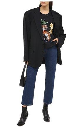 Женская хлопковая футболка KENZO черного цвета, арт. FB52CH0339KE | Фото 2