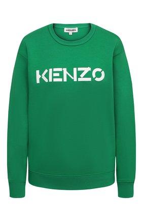 Женский хлопковый свитшот KENZO зеленого цвета, арт. FA62SW8214MD | Фото 1