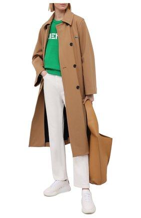 Женский хлопковый свитшот KENZO зеленого цвета, арт. FA62SW8214MD | Фото 2