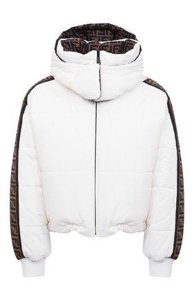 Женский пуховая куртка FENDI белого цвета, арт. FAN001 AEQD | Фото 1