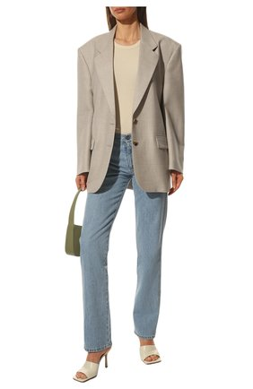 Женские кожаные мюли BOTTEGA VENETA кремвого цвета, арт. 610538/VBSF0 | Фото 2
