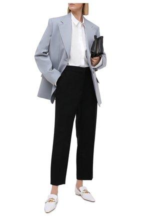 Женские кожаные лоферы the madame BOTTEGA VENETA белого цвета, арт. 651352/VBP10 | Фото 2