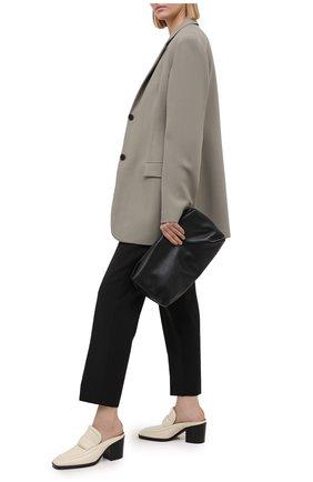 Женские кожаные мюли BOTTEGA VENETA кремвого цвета, арт. 651366/V0G80   Фото 2