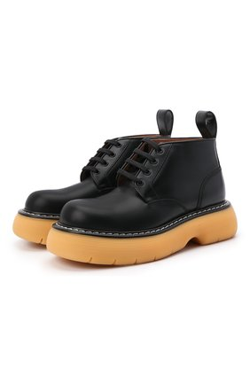 Женские кожаные ботинки bounce  BOTTEGA VENETA черного цвета, арт. 651406/V00H0 | Фото 1