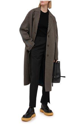 Женские кожаные ботинки bounce  BOTTEGA VENETA черного цвета, арт. 651406/V00H0 | Фото 2