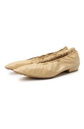 Женские кожаные балетки almond BOTTEGA VENETA бежевого цвета, арт. 652273/VBP10 | Фото 1