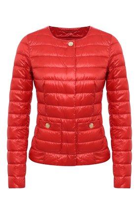 Женская пуховая куртка HERNO красного цвета, арт. PI0595D/12017 | Фото 1