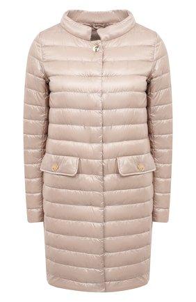 Женское пуховое пальто HERNO розового цвета, арт. PI1232D/12017 | Фото 1