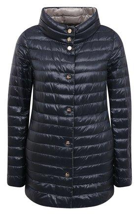 Женская пуховая куртка HERNO темно-синего цвета, арт. PI1234D/12017 | Фото 1