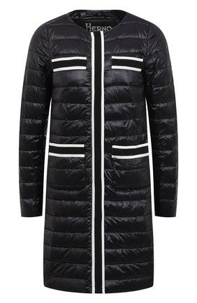 Женское пуховое пальто HERNO черного цвета, арт. PI1245D/12017 | Фото 1