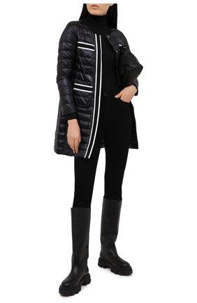 Женское пуховое пальто HERNO черного цвета, арт. PI1245D/12017 | Фото 2