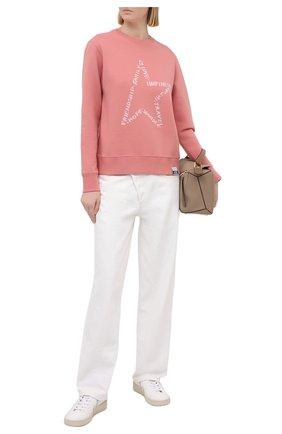 Женский хлопковый свитшот GOLDEN GOOSE DELUXE BRAND розового цвета, арт. GWP00760.P000368 | Фото 2
