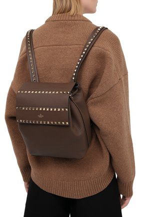 Женский рюкзак rockstud VALENTINO темно-бежевого цвета, арт. VW2B0H60/YRK | Фото 2