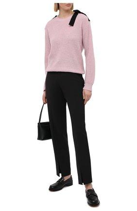 Женский свитер REDVALENTINO светло-розового цвета, арт. VR3KC05I/5P5   Фото 2 (Материал внешний: Шерсть; Женское Кросс-КТ: Свитер-одежда; Рукава: Длинные; Стили: Романтичный; Длина (для топов): Стандартные)