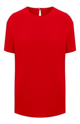 Женский шелковый топ VALENTINO красного цвета, арт. VB3AE5H51MM | Фото 1