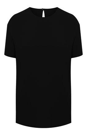 Женский шелковый топ VALENTINO черного цвета, арт. VB3AE5H51MM | Фото 1