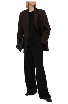 Женский шелковый топ VALENTINO черного цвета, арт. VB3AE5H51MM | Фото 2