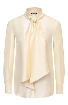 Женская блузка из вискозы и шелка KITON желтого цвета, арт. D38455K09S63 | Фото 1