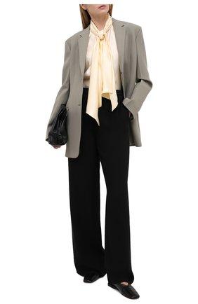 Женская блузка из вискозы и шелка KITON желтого цвета, арт. D38455K09S63 | Фото 2