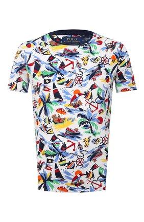 Мужская хлопковая футболка POLO RALPH LAUREN разноцветного цвета, арт. 710835281 | Фото 1