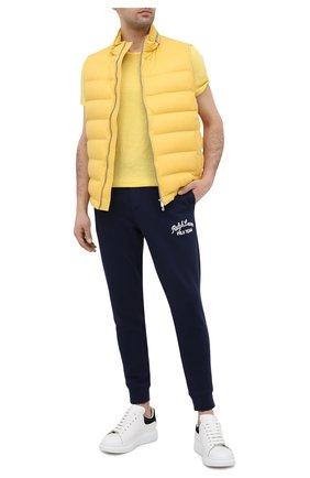 Мужская хлопковая футболка POLO RALPH LAUREN желтого цвета, арт. 710795137 | Фото 2