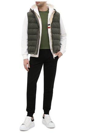 Мужская хлопковая футболка POLO RALPH LAUREN темно-зеленого цвета, арт. 710671438 | Фото 2 (Стили: Кэжуэл; Длина (для топов): Стандартные; Материал внешний: Хлопок; Принт: Без принта; Рукава: Короткие)