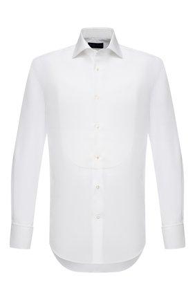 Мужская хлопковая сорочка RALPH LAUREN белого цвета, арт. 791814302 | Фото 1