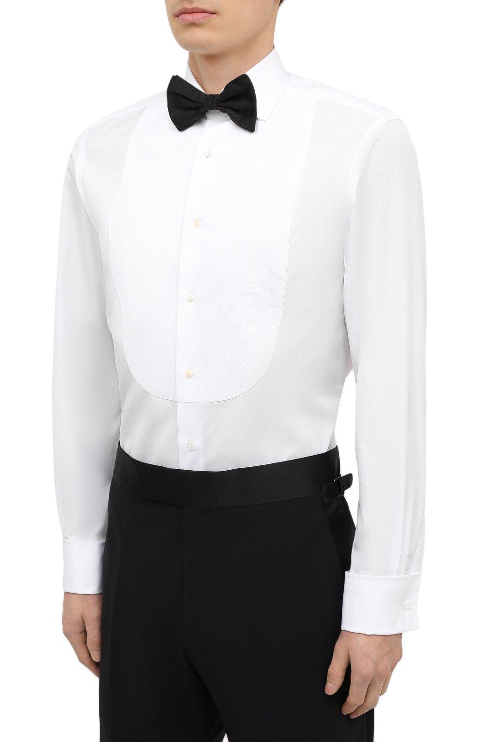 Мужская хлопковая сорочка RALPH LAUREN белого цвета, арт. 791814302 | Фото 4