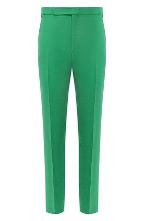 Мужские льняные брюки RALPH LAUREN зеленого цвета, арт. 798830244 | Фото 1