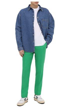 Мужские льняные брюки RALPH LAUREN зеленого цвета, арт. 798830244 | Фото 2