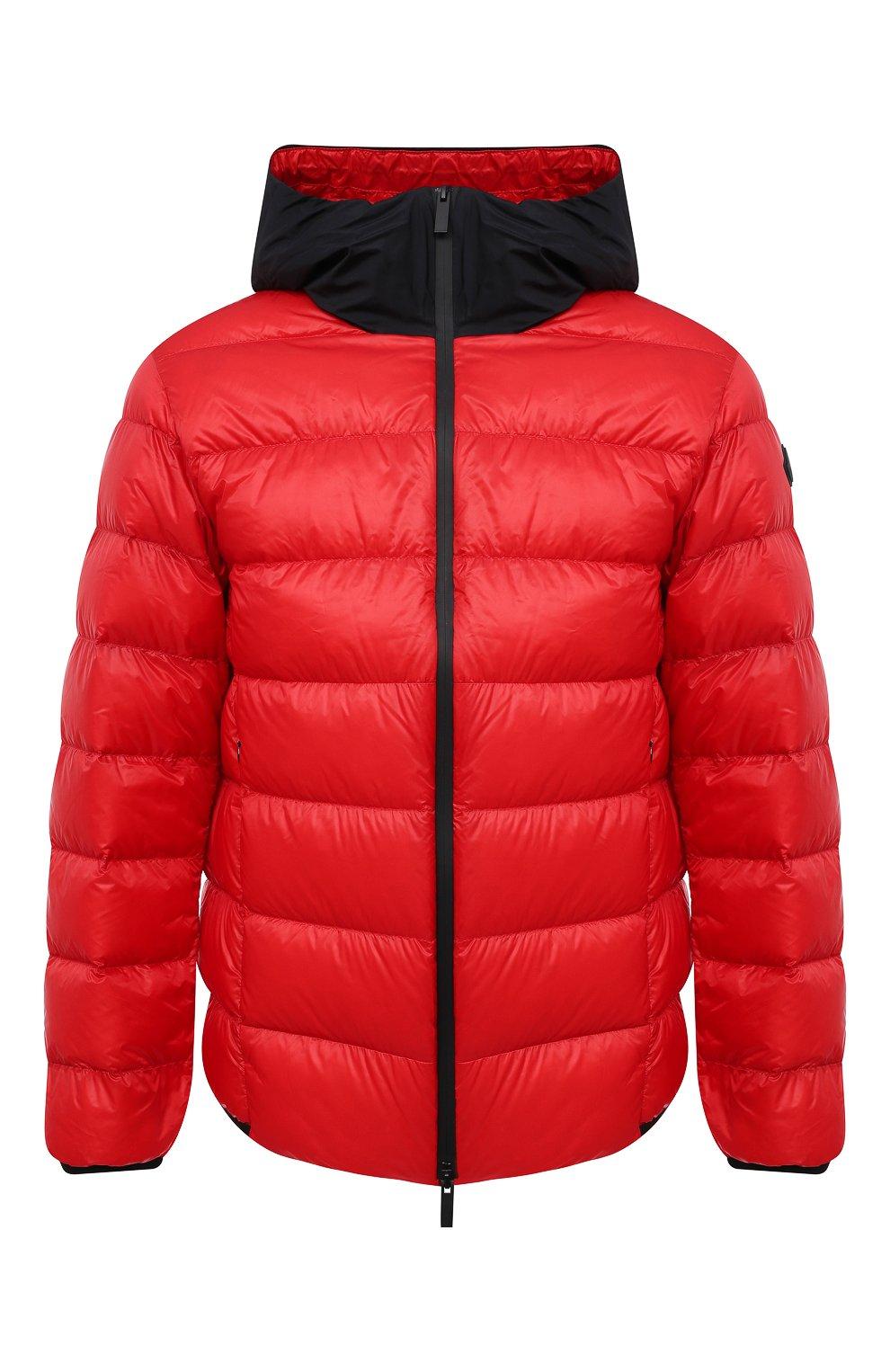 Мужская пуховая куртка provins MONCLER красного цвета, арт. G1-091-1A123-00-53279 | Фото 1 (Кросс-КТ: Куртка; Мужское Кросс-КТ: пуховик-короткий; Рукава: Длинные; Материал внешний: Синтетический материал; Стили: Гранж; Материал подклада: Синтетический материал; Длина (верхняя одежда): Короткие; Материал утеплителя: Пух и перо)