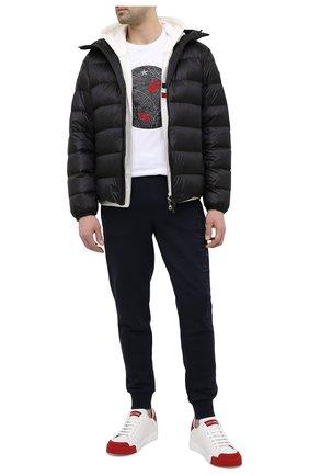 Мужская пуховая куртка provins MONCLER черного цвета, арт. G1-091-1A123-00-53279 | Фото 2 (Кросс-КТ: Куртка; Мужское Кросс-КТ: пуховик-короткий; Рукава: Длинные; Материал внешний: Синтетический материал; Материал подклада: Синтетический материал; Длина (верхняя одежда): Короткие; Материал утеплителя: Пух и перо; Стили: Кэжуэл)