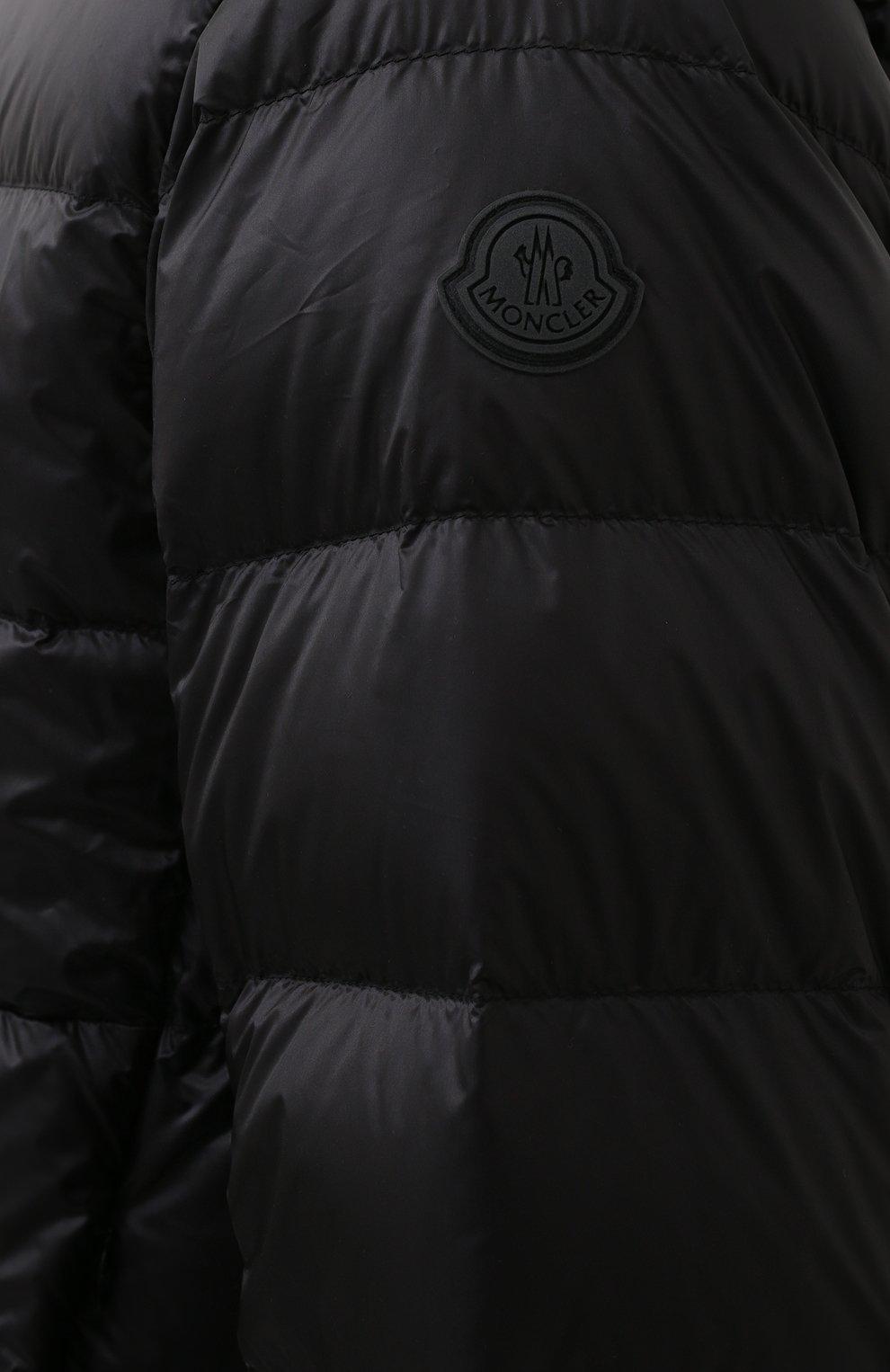 Мужская пуховая куртка provins MONCLER черного цвета, арт. G1-091-1A123-00-53279 | Фото 5 (Кросс-КТ: Куртка; Мужское Кросс-КТ: пуховик-короткий; Рукава: Длинные; Материал внешний: Синтетический материал; Материал подклада: Синтетический материал; Длина (верхняя одежда): Короткие; Материал утеплителя: Пух и перо; Стили: Кэжуэл)