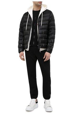 Мужская пуховая куртка domme MONCLER черного цвета, арт. G1-091-1B50F-00-53A73 | Фото 2