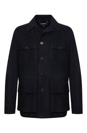 Мужская замшевая куртка RALPH LAUREN темно-синего цвета, арт. 790799328 | Фото 1
