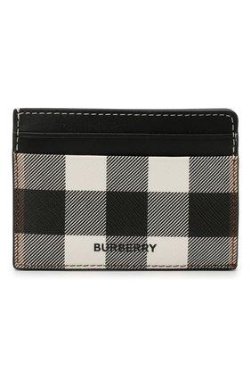Мужской футляр для кредитных карт BURBERRY черно-белого цвета, арт. 8036672 | Фото 1