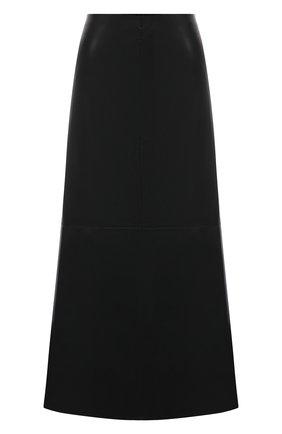 Женская юбка NANUSHKA черного цвета, арт. ZAYRA_BLACK_VEGAN LEATHER | Фото 1