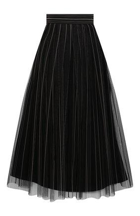 Женская юбка BRUNELLO CUCINELLI темно-серого цвета, арт. MH185G3053 | Фото 1