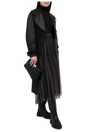 Женская юбка BRUNELLO CUCINELLI темно-серого цвета, арт. MH185G3053 | Фото 2