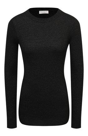 Женский пуловер BRUNELLO CUCINELLI темно-серого цвета, арт. M41822900 | Фото 1