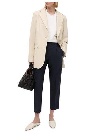 Женские хлопковые брюки BRUNELLO CUCINELLI синего цвета, арт. M0F79P7461 | Фото 2