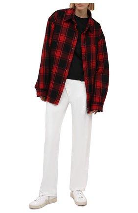 Женская хлопковая футболка KENZO черного цвета, арт. FB52TS8434SA | Фото 2 (Женское Кросс-КТ: Футболка-одежда; Стили: Спорт-шик; Длина (для топов): Стандартные; Принт: С принтом; Материал внешний: Хлопок; Рукава: Короткие)
