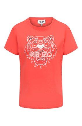 Женская хлопковая футболка KENZO красного цвета, арт. FB52TS8464YB | Фото 1