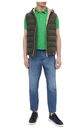 Мужские кожаные кеды triple stitch ZEGNA COUTURE темно-синего цвета, арт. A4667X-LHCV0 | Фото 2