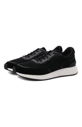Мужские комбинированные кроссовки piuma Z ZEGNA черного цвета, арт. A4921X-LHCB0 | Фото 1